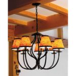 7 Light Chandelier, Amphora