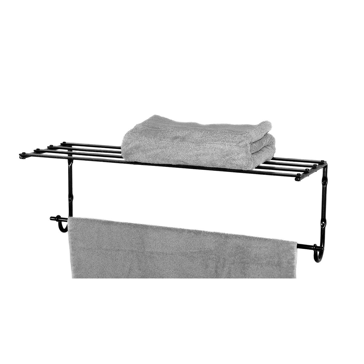 Towel Shelf with Towel Bar